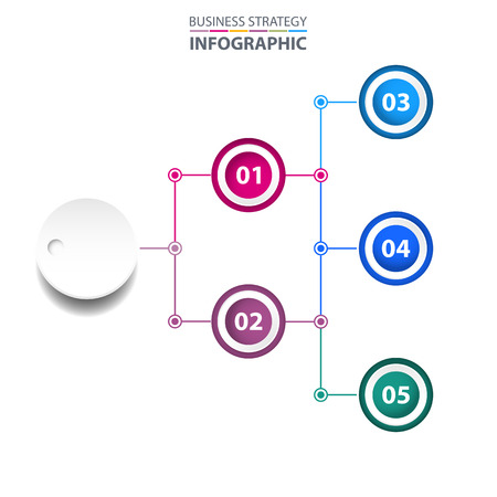 Business Infographics, strategy, chart, design template illustration. Vector eps10.