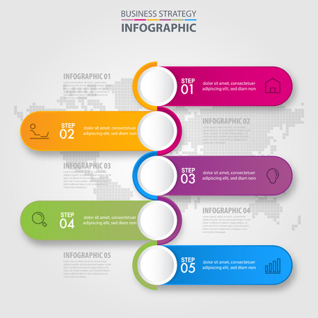 Business Infographics, strategy, timeline, design elements template graphic illustration
