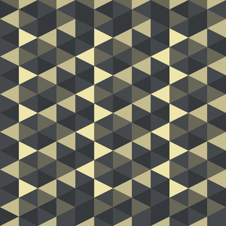Abstract geometric golden vector pattern retro gothic and art deco style. Illustration for design background EPS10. Use for textile, graphic screen, presentation. Ilustração