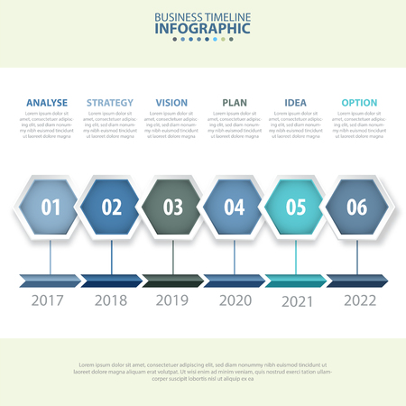numbers abstract: Business Infographics, strategy, timeline, design template blue grey color tone illustration. Vector eps10.