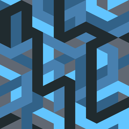 Abstract geometric pattern vector retro gothic and art deco style. Illustration for design background EPS10