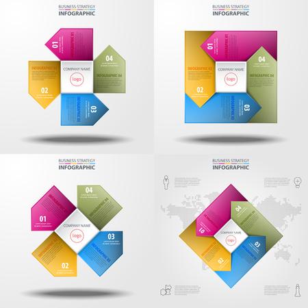 Business information flow image design 矢量图像