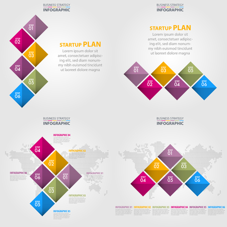 Business Infographics, strategy, timeline, design template illustration. Vector eps10. Illustration