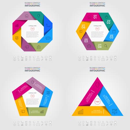 Business Infographics, strategy, timeline, design template illustration. Vector eps10. Иллюстрация