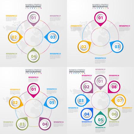 Business Infographics, strategy, timeline, design template illustration. Illustration