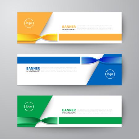 Modern geometric banner web design template set