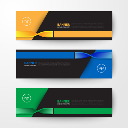 Modern geometrics banners web design template abstract vector background elements, Business presentation.