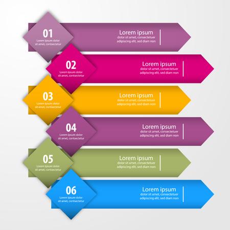Business Infographics, strategy, timeline, design template illustration. Vector eps10. Stok Fotoğraf - 125885944