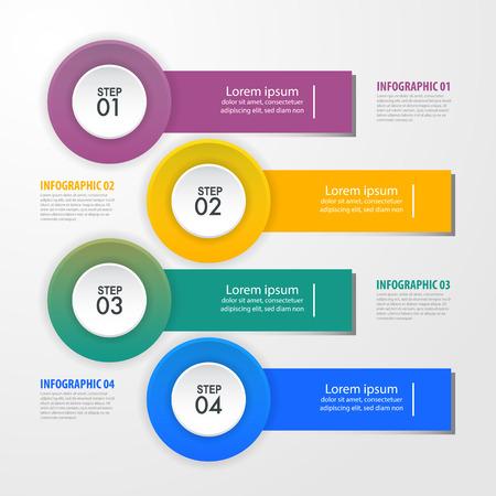 Business Infographics, strategy, timeline, design template illustration. Vector eps10. Stok Fotoğraf - 125885945