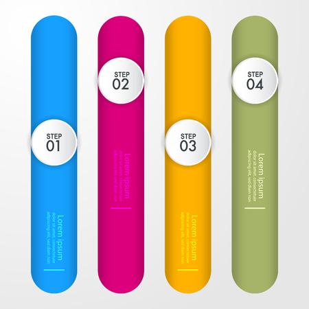 Business Infographics, strategy, timeline, design template illustration. Vector eps10. Stok Fotoğraf - 125709986