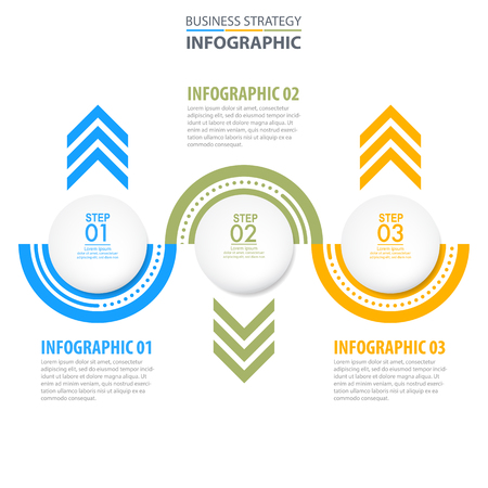 Business Infographics, strategy, timeline, design template illustration. Vector eps10. 向量圖像