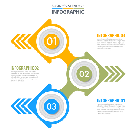 Business Infographics, strategy, timeline, design template illustration. Vector eps10. Stok Fotoğraf - 124879755