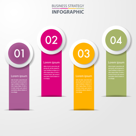 Business Infographics, strategy, timeline, design template illustration. Vector eps10. Stok Fotoğraf - 124879761