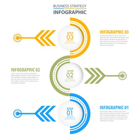 Business Infographics, strategy, timeline, design template illustration. Vector eps10. Stok Fotoğraf - 124879762