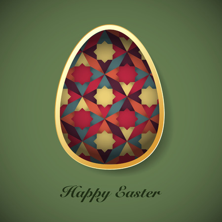 Easter background with easter eggs spring collection vector illustration Illustration