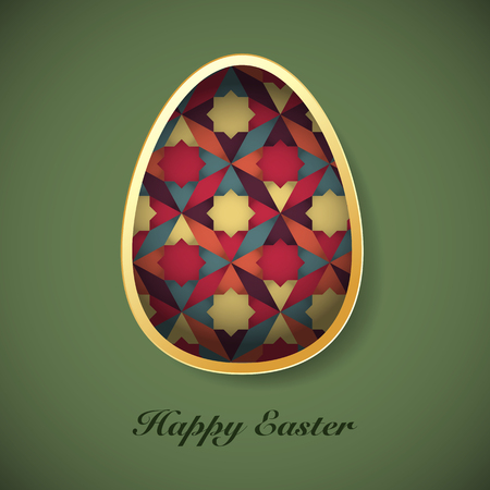 Easter background with easter eggs spring collection vector illustration Çizim