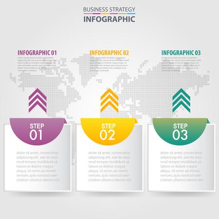 Business Infographics, strategy, timeline, design template illustration. Vector eps10. Banque d'images - 120409355