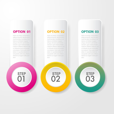 Business Infographics, strategy, timeline, design template illustration. Vector eps10. Ilustração