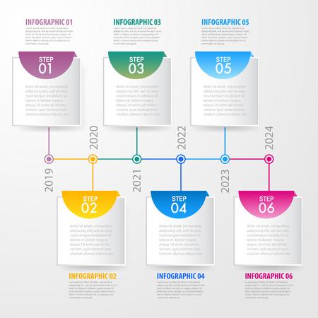 Business Infographics, strategy, timeline, design template illustration. Vector eps10. Stok Fotoğraf - 124649221