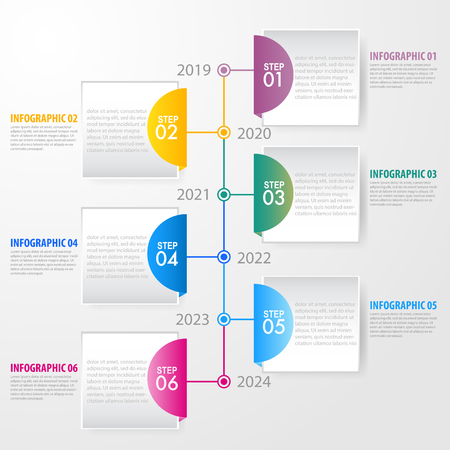 Business Infographics, strategy, timeline, design template illustration. Vector eps10. Stok Fotoğraf - 124649223