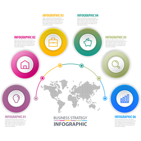 Business Infographics, strategy, timeline, design template illustration. Vector eps10. Illustration