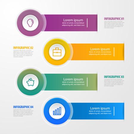 Business Infographics, strategy, timeline, design template illustration. Vector eps10.