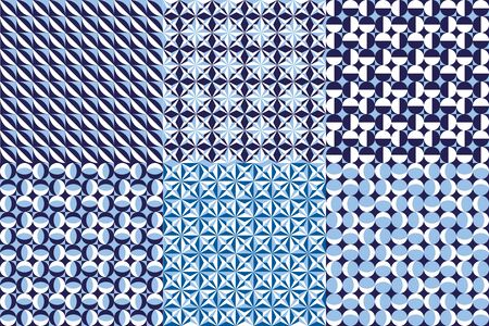Abstract geometric graphic pattern in blue tone color.