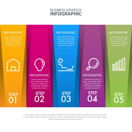 Timeline Business strategy infographic vector illustration design template with blue blackground theme digital transformation