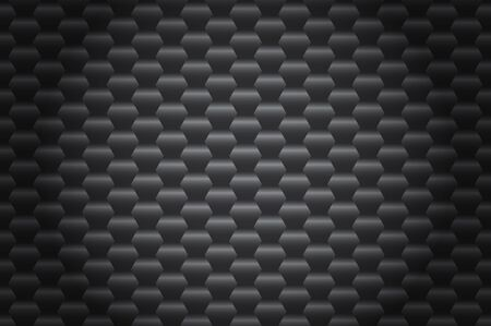 Black geometric hexagon abstract background vector illustration for printing, wallpaper, textile, web design