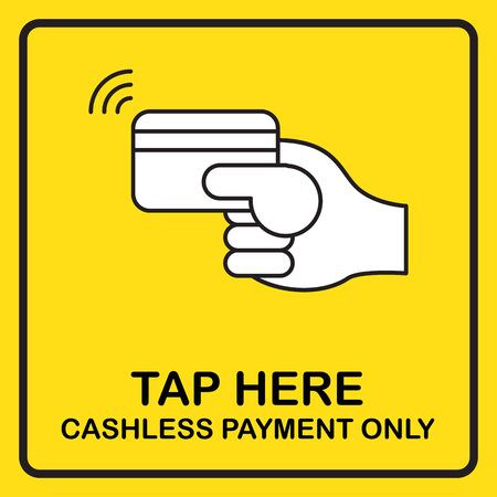 Cashless payment sign vector for poster, print, banner. Business digital marketing technology new normal.