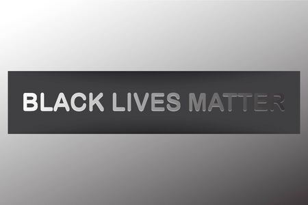 Black lives typography. Protest banner, poster about human right of black people in US. America. Vector