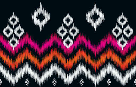 Abstract oriental ethnic pattern traditional background design for wallpaper, fabric, textile, carpet, batik. Embroidery style. Vector illustration.