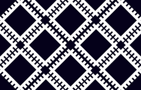 Abstract geometric ethnic pattern traditional background design for wallpaper, fabric, textile, carpet, batik. Embroidery style. Premium Vector illustration.
