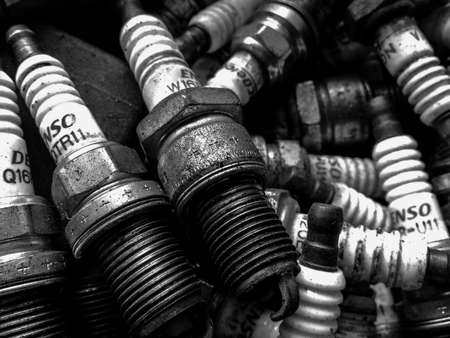 Old spark plugs are used for desertion photo