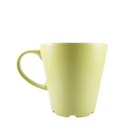 coffeecup: Green cup of coffee on a white background Stock Photo