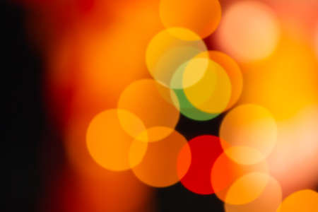 At night, colorful bokeh background photo