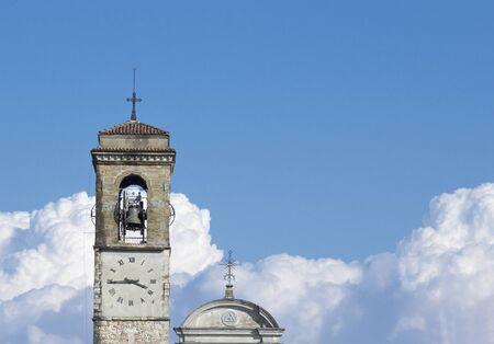 illuminati: Italian church with a symbol of the Illuminati Stock Photo