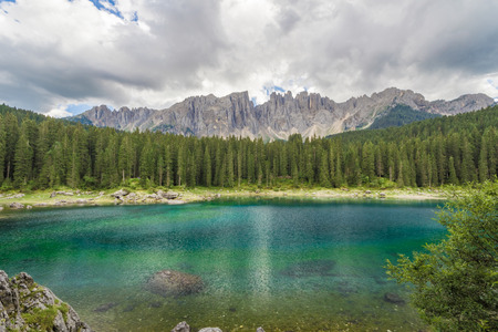 secluded: Secluded lake (Carezza, Italy)