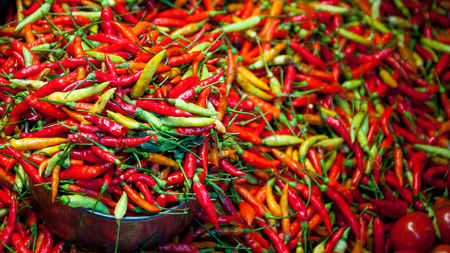 loads: Loads of red, green and orange Chillies