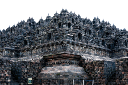 Humangous brick temple of hindu in Indonesia