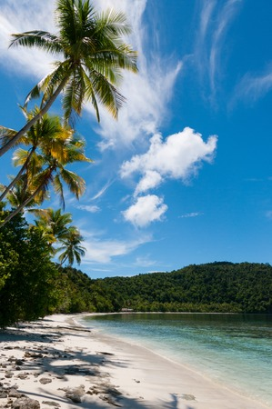 Nuova Guinea: The tropical, white beach of Raja Ampat in Papua New Guinea, Indonesia Archivio Fotografico