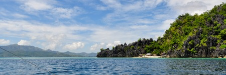 coron: Landscape of deep blue ocean and healthy island in Coron, Palawan, Philippines Stock Photo