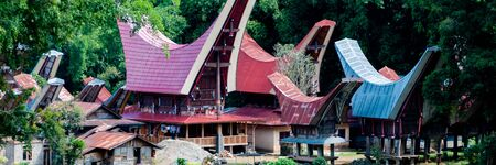 toraja: The Village with traditional and colorful houses of Tana Toraja on Sulawesi in Indonesia