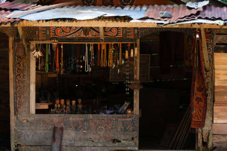 A small store selling craft-made souvenirs in Tana Toraja