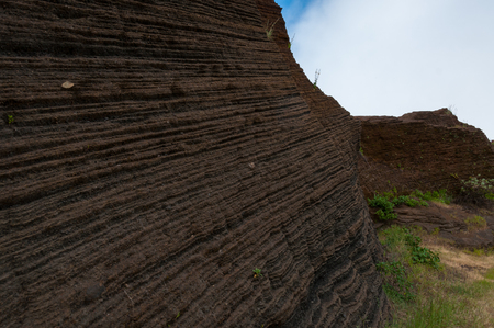 geological formation: Geological sandstone formation in cape verde island