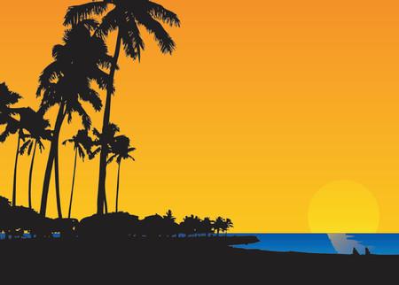 sunrise in heaven Illustration
