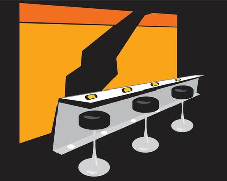 aperitif: interior bar Illustration