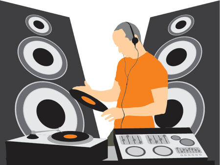 DJ making noise