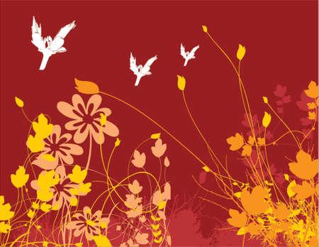 flower chaos Illustration