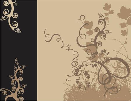 vectorized: Vectorizado de dise�o floral de color y tama�o que usted desea